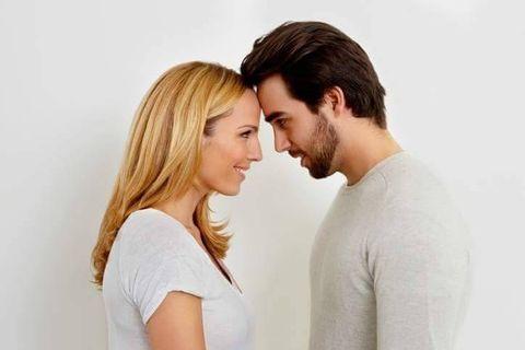 Hair, Forehead, Love, Hairstyle, Nose, Cheek, Romance, Interaction, Kiss, Gesture,