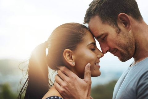 Love, Romance, Forehead, Kiss, Interaction, Nose, Cheek, Honeymoon, Gesture, Happy,