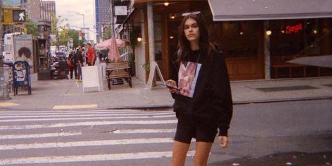 Photograph, White, Snapshot, Street, Urban area, Street fashion, Beauty, Standing, Fashion, Pedestrian,
