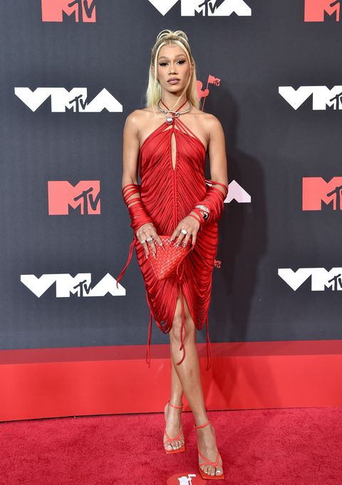 new york, new york   september 12 bia attends the 2021 mtv video music awards at barclays center on september 12, 2021 in the brooklyn borough of new york city photo by axellebauer griffinfilmmagic