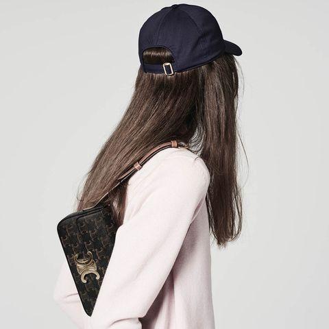 celinetriomphe經典花紋帆布短背帶肩背包