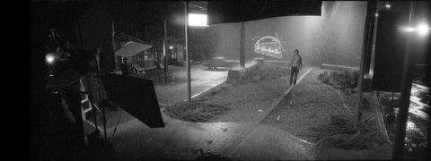 Black-and-white, Monochrome photography, Snapshot, Monochrome, Photography, Umbrella, Night, Rain, Style, Darkness,