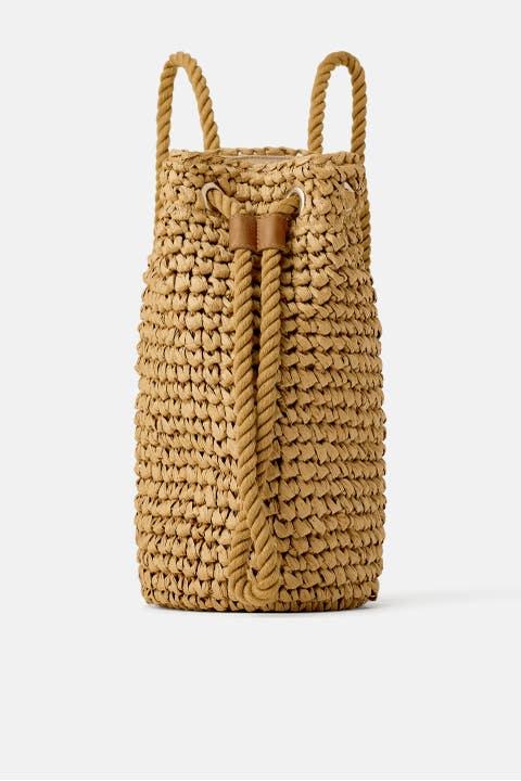 Bag, Handbag, Basket, Wicker, Fashion accessory, Beige,