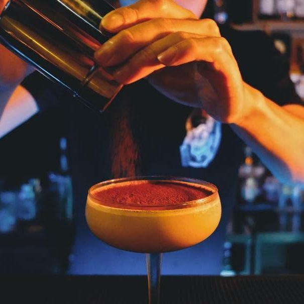 Bartender, Drink, Alcoholic beverage, Cocktail, Distilled beverage, Bar, Manhattan, Club,