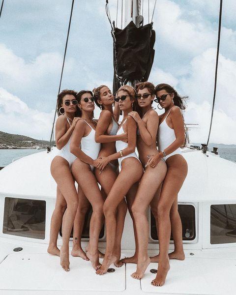 Bikini, Vacation, Swimwear, Leg, Fun, Boat, Vehicle, Sun tanning, Undergarment, Sailboat,