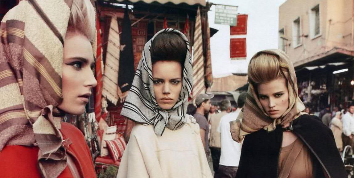 Headscarves by Inez & Vinoodh and Carine Roitfeld