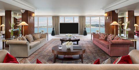Living room, Room, Property, Interior design, Furniture, Building, Ceiling, Real estate, House, Home,