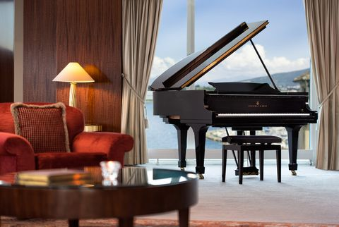 Fortepiano, Room, Piano, Suite, Furniture, Interior design, Technology, Living room, Pianist, Electronic device,