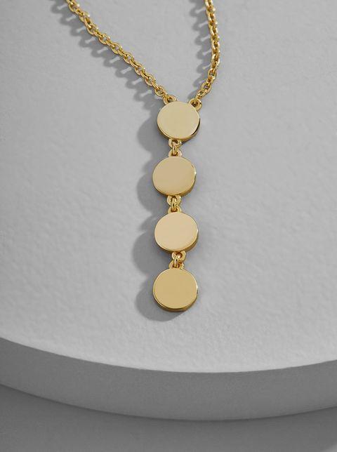 Jewellery, Necklace, Fashion accessory, Yellow, Pendant, Chain, Gold, Body jewelry, Locket, Circle,