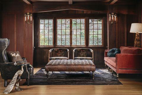 Furniture, Room, Living room, Couch, Interior design, House, Hardwood, Wood, Building, Floor,