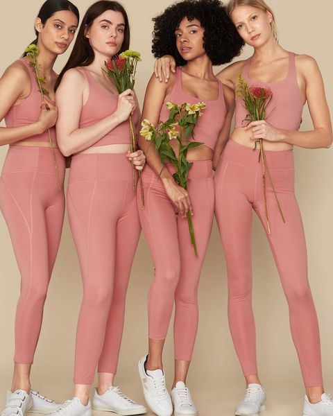 Clothing, Pink, Leg, Footwear, Muscle, Model, Thigh, Leggings, Human leg, Flesh,
