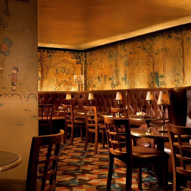 Restaurant, Room, Interior design, Building, Furniture, Table, Tavern, Café,