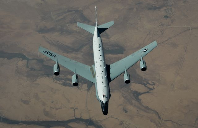 a rc 135vw rivet joint flies above southwest asia in support of operation inherent resolve aug 14, 2017 the rc 135vw reconnaissance aircraft supports theater and national level consumers with near real time on scene intelligence collection, analysis and dissemination capabilities us air force photo by staff sgt michael battles
