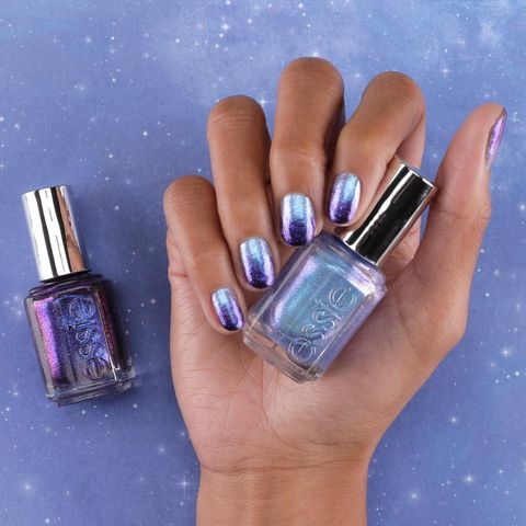 Nail polish, Nail, Nail care, Manicure, Blue, Cosmetics, Violet, Purple, Finger, Lilac,