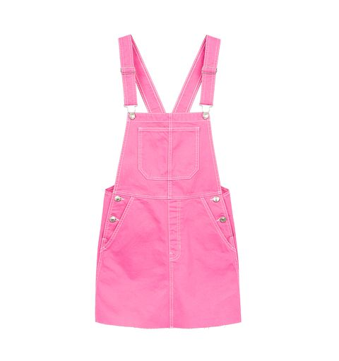 Clothing, Pink, Dress, One-piece garment, Magenta, Day dress, Overall, Pocket,