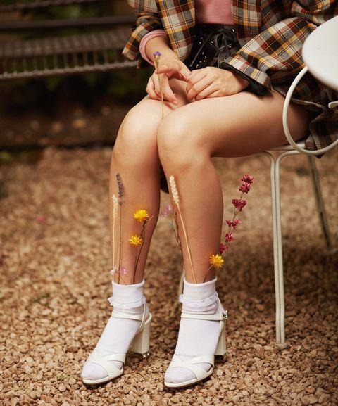 Human leg, Leg, Thigh, Footwear, Beauty, Fashion, Shoe, Joint, Human body, Calf,