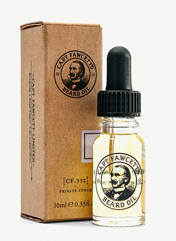 Captain Fawcett's beard oil