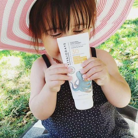 美國天然有機 vivaiodays 熱銷 no1 薑黃全效防曬乳 小章魚 瓶可愛來台 上市