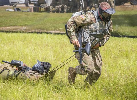 Soldier, Infantry, Army, Military organization, Military camouflage, Military, Grass, Games, Recreation, Marines,