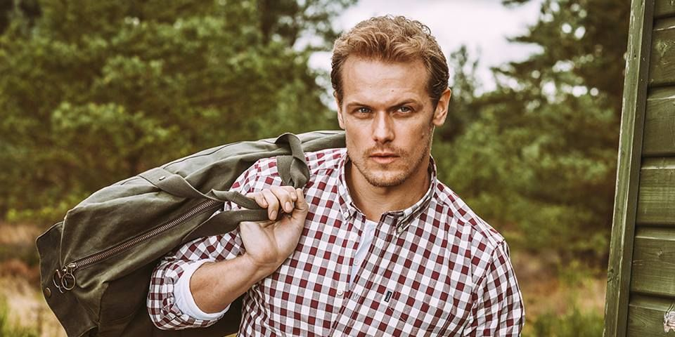 fc14f0e51bd Watch Outlander s Sam Heughan Model Barbour s New Line - New Barbour Ad for  the Shirt Department
