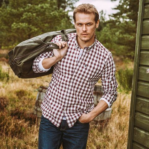 6f839e35726 Watch Outlander s Sam Heughan Model Barbour s New Line - New Barbour ...