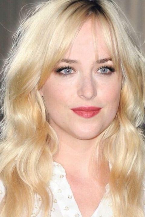 Hair, Face, Blond, Hairstyle, Eyebrow, Lip, Chin, Long hair, Beauty, Layered hair,