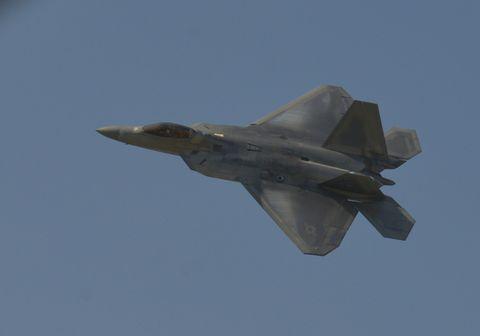 Airplane, Aircraft, Military aircraft, Lockheed martin f-22 raptor, Fighter aircraft, Air force, Lockheed martin fb-22, Aerospace manufacturer, Vehicle, Jet aircraft,