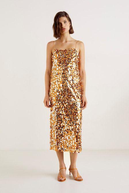 Clothing, Dress, Fashion model, Day dress, Shoulder, Yellow, Cocktail dress, Neck, Fashion, One-piece garment,
