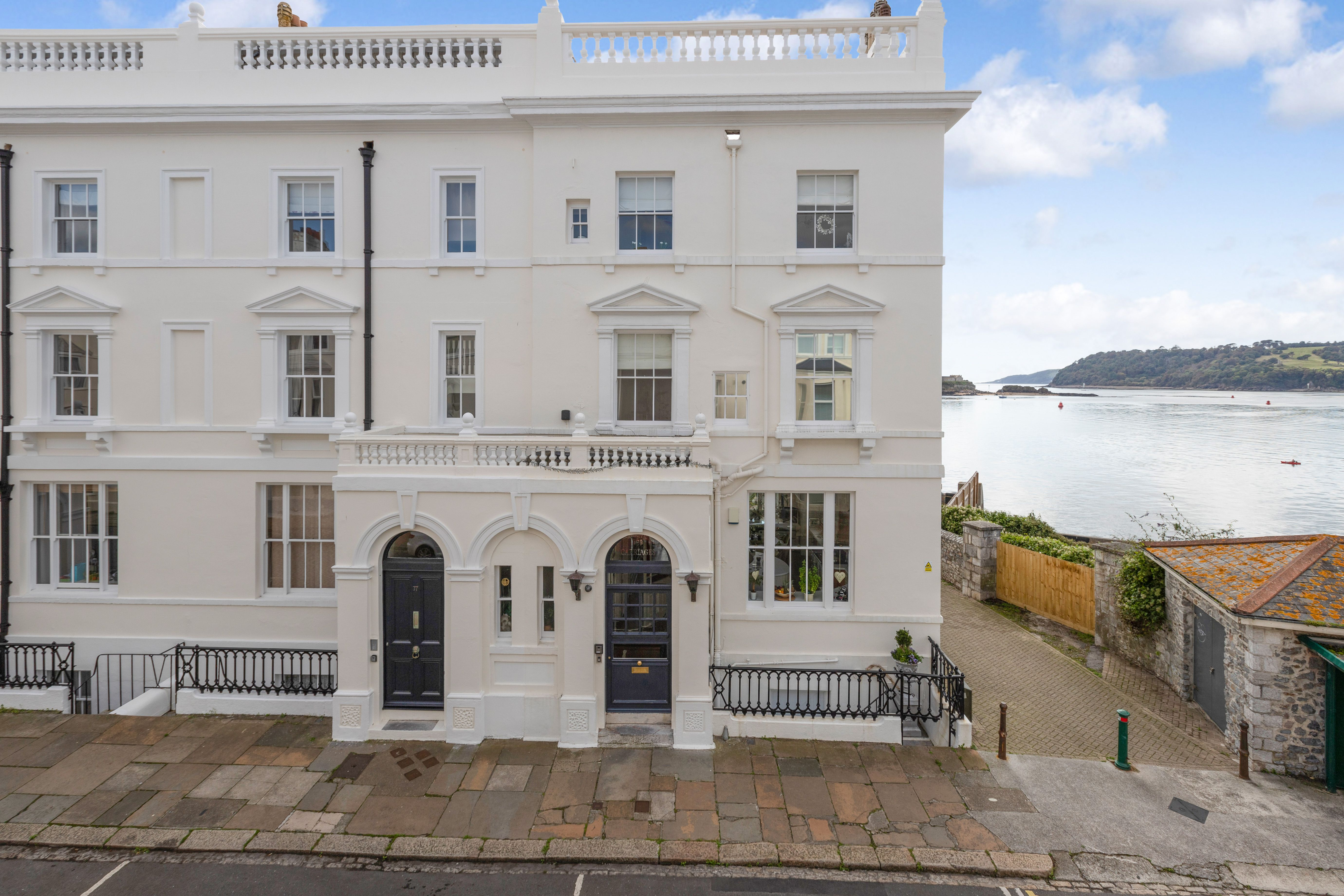 Beautiful Grade II listed townhouse for sale with incredible views over Plymouth Sound