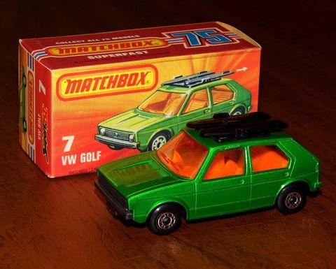 Land vehicle, Vehicle, Car, Model car, Classic car, Volkswagen golf mk1, Subcompact car, Hatchback, Toy vehicle, Family car,