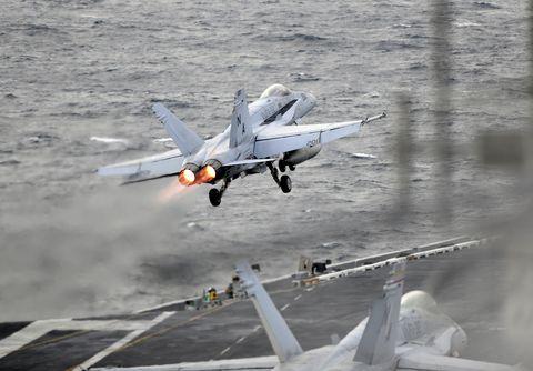 F/A-18E Super Hornet Launches from USS Theodore Roosevelt (CVN 71)