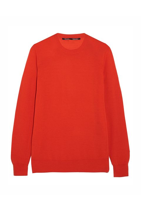 Clothing, Red, Sleeve, Sweater, Outerwear, Long-sleeved t-shirt, Orange, Top, T-shirt, Jersey,