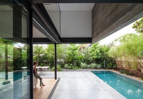 Swimming pool, Property, Leisure, Real estate, Shade, Resort, Composite material, Tile, Rectangle, Transparent material,
