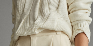 Massimo Dutti pantalon blanco