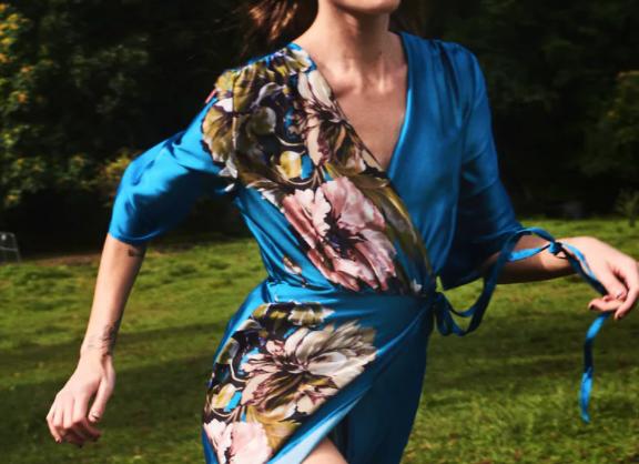 zara vestido azul pareo