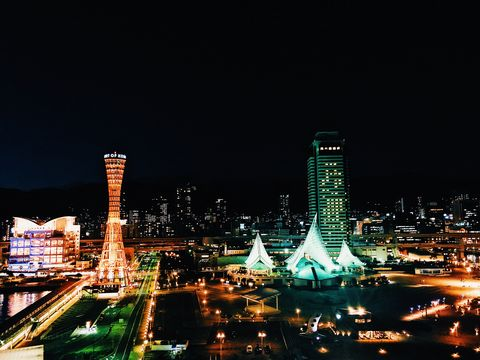 Metropolitan area, Cityscape, Night, City, Urban area, Landmark, Metropolis, Tower, Human settlement, Sky,
