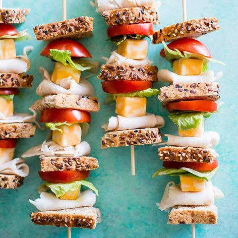 Turkey Sandwich Skewers