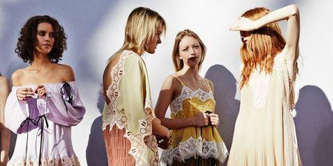 Clothing, Dress, Fashion model, Fashion, Fashion design, Waist, Costume, Vintage clothing, Fashion accessory, Fawn,