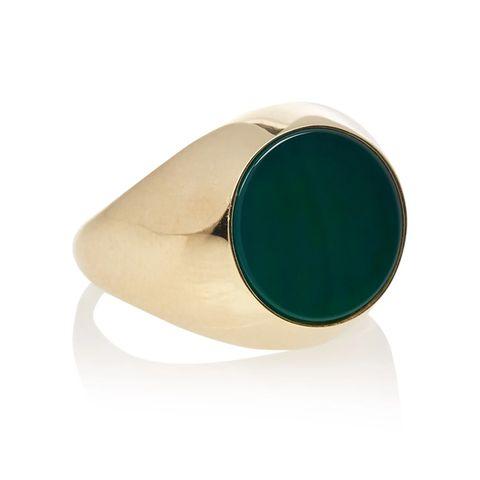 aynur abbott green signet zegelring