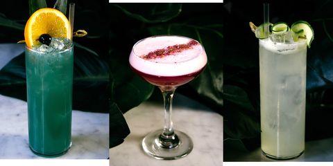 Drink, Cocktail garnish, Distilled beverage, Alcoholic beverage, Non-alcoholic beverage, Cocktail, Champagne cocktail, Classic cocktail, Wine cocktail, Liqueur,