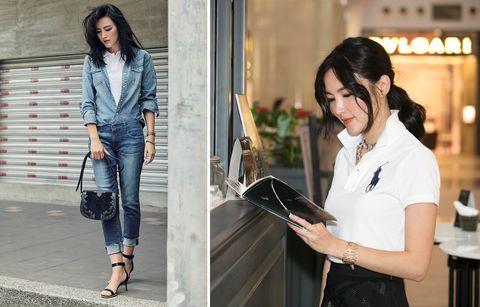 Jeans, Clothing, White, Street fashion, Denim, Fashion, Outerwear, Blazer, Snapshot, Jacket,