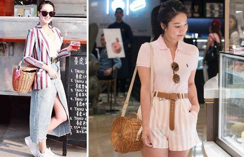 Clothing, White, Pink, Street fashion, Sleeve, Fashion model, Fashion, Outerwear, Shoulder, Collar,