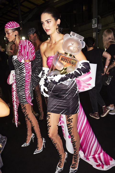 Pink, Fashion, Event, Leg, Dress, Fashion design, Costume, Performance, Party, Magenta,