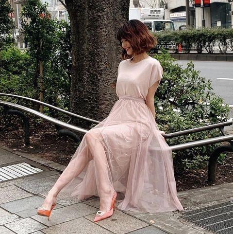 Dress, Clothing, White, Photograph, Pink, Beauty, Shoulder, Leg, Fashion, Gown,