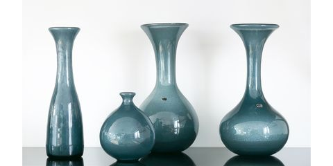 VASE(BLUE GREY CARBORUNDUM)