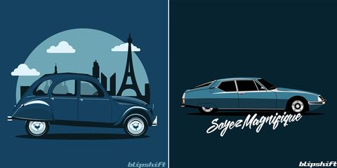 French Cars Star on Blipshift T-Shirts, Only on Sale till July 14