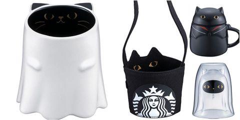 星巴克萬聖節10款「黑貓系列杯」