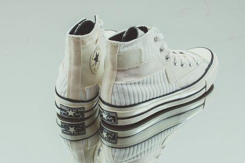 Converse Chuck 70Antique Patchwork鞋後跟的星星標誌充滿年代感