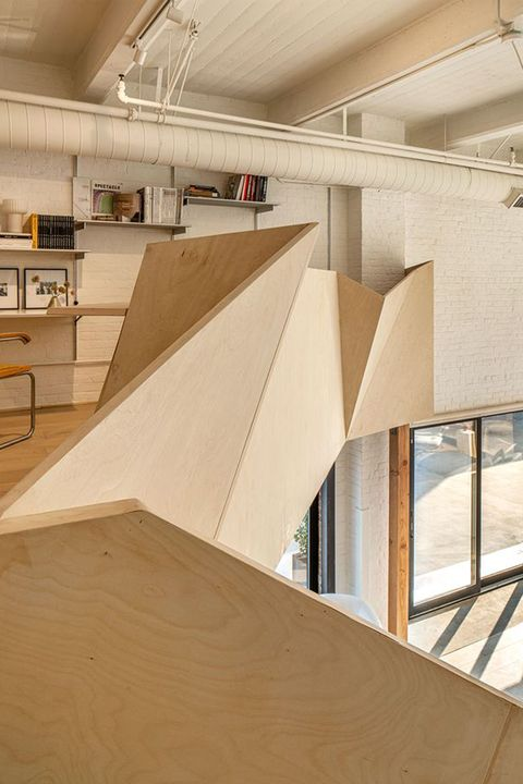 in a former nabisco factory, an architect works magic in a cookie cutter mold