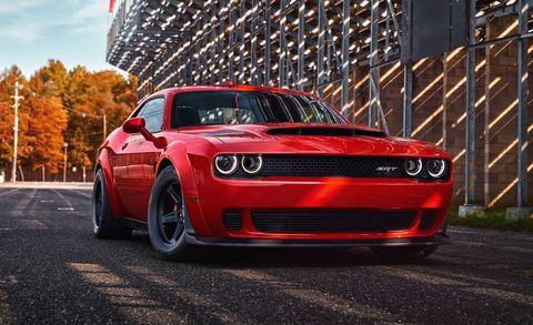 Land vehicle, Vehicle, Car, Automotive design, Muscle car, Red, Performance car, Rim, Tire, Automotive exterior,